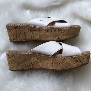 Boc White womens espadrilles wedge sandals 9 shoes